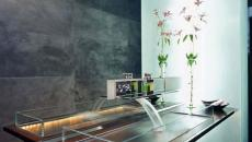 grande lavabo vasque design transparent verre