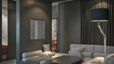 intérieur maison design moderne en gris
