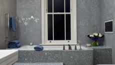 belle salle de bain papier peints modernes