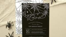 Carton invitation fairepart original design party fête Halloween