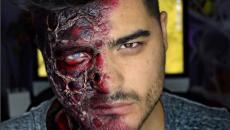 maquillage visage professionnel homme halloween