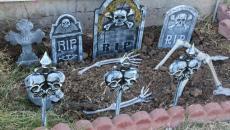 Cimetière décorative pour Halloween jardin