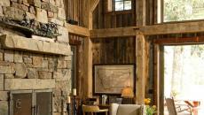 bois massif intérieur design rustique