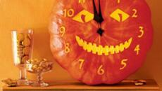 Horloge citrouille courge souriante Halloween