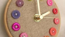 idée fabriquer horloge avec boutons inutiles