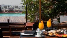 Hôtel 1898 un petit déjeuner en plein air