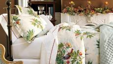 linge de lit déco chambre Noël