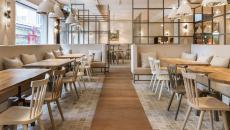 minimaliste et lumineux restaurant design zurich