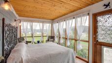 veranda moderne agrandissement maison transformée en chambre