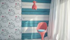turquoise stickers chambre d'enfant déco ambiance