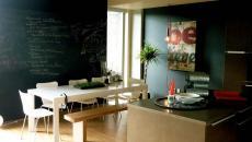 mur tableau noir écrire cuisine