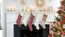 cheminée décoration de Noël élégante