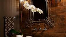 belle salle de bain design moderne foncé