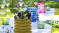 recevoir dans le jardin avec belle table dressée