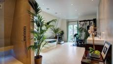 décorer la salle de bains avec plantes vertes