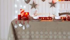 idées de déco table repas familiale Noël