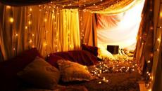 chambre à coucher décoration de Noël