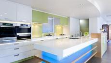 cuisine contemporaine et moderne barrettes à LED
