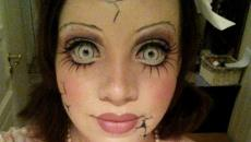 scary face maquillage