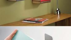 rangement livres mur concept original