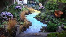 chemins de jardin aménagement en couleur idées déco