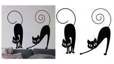 sticker mural décoration murale Halloween chat noir