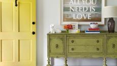 intérieur maison décoration en jaune
