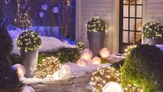 luminaires décoratifs extérieur jardin maison pour Noël
