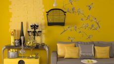 décor intérieur maison design jaune