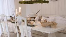 blanc et épurée décoration table de noel familiale