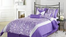 Chambre avec imprimé zèbre en violet