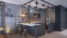 belle cuisine influence industrielle idées déco cuisine en L