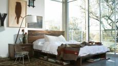 lit rustique moderne appartement