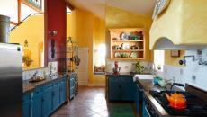 déco rustique couleur vives cuisine
