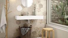 idée salle de bains créative carrelage design