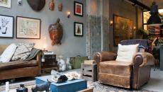 séjour aménagé décoré design intérieur maison éclectique