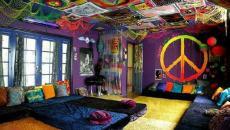 inspiration idées déco hippie psychédélique