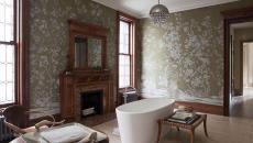 papier peint salle de bain vinyles