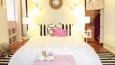 décoration rayures chambre design