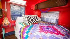 lit caravane intérieur déco