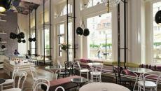 touche rétro intérieur commerce café