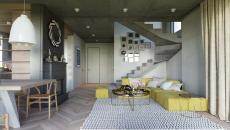 décoration intérieure touches jaunes maison moderne