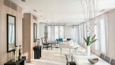 pièce de vie spacieuse et lumineuse appartement moderne