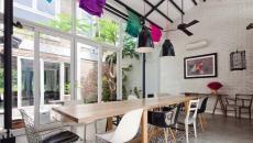 cuisine salle à manger chaises dépareillées