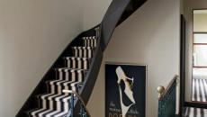 tapis rayures escalier chic