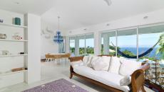 séjour avec vue sur mer villa de luxe