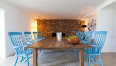salle à manger rustique villa ibiza