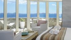 panorama vue mer suite de luxe hôtel Mykonos