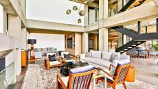 séjour ameublement rétro luxe villa de vacances à louer malibu
