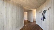intérieur bois villa de luxe savane